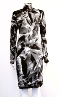 NOIR-SPRAYPAINTED-TURTLENECK-DRESS - NOIR-SPRAYPAINTED-TURTLENECK-DRESS SMALL