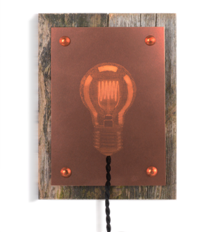 The Vintage Lamp,  - Koppar&Trä