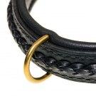 Halsband flätat svart 2