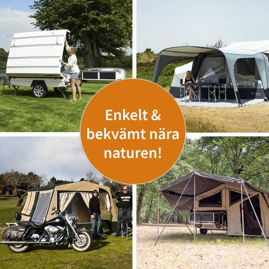 Återförsäljare av nya och begagnade tältvagnar från Isabella Camp-let, Campooz & Comanchehos  CJ Tält & Fritid i Halland