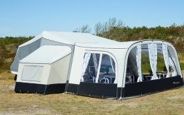 Front till  Camp-let tältvagn förtält Living Plus