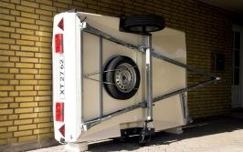 Förvaringsvagn med hjul till Camp-let tältvagn
