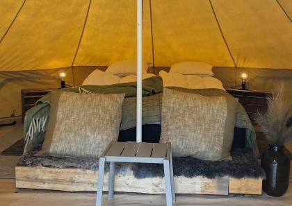 Glamping på Bexet Camping i Hyltebruk