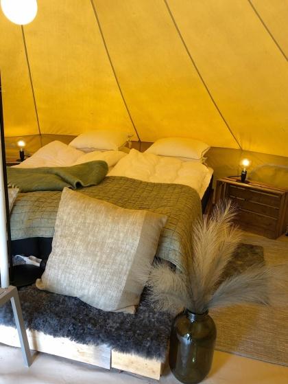 Lyxig  camping med glamping på Bexet Camping i Halländska Hyltebruk