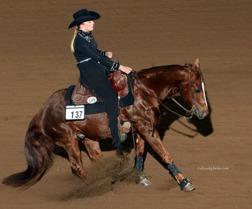 Ella i reiningfinal på Nationals i USA