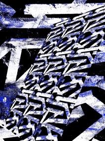 Karma - blå - Gicléetryck 38x50 cm, ram 53x73 cm