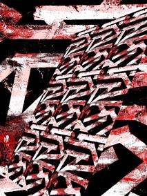 Karma - röd - Gicléetryck 38x50 cm, ram 53x73 cm
