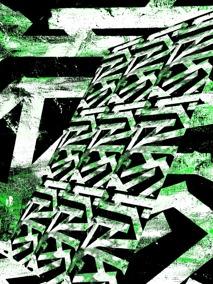 Karma - grön - Gicléetryck 38x50 cm, ram 53x73 cm