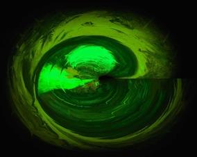 Energy Soul - lime grön - Gicléetryck 38x50 cm, ram 53x73 cm
