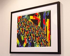 Digital konst. Unika tavlor i digitalt abstrakt fotokonst sv fotokonstnär Lisa Persdotter.