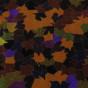 Entrématta - Höstglöd röd/orange - Entrématta 150x300 cm