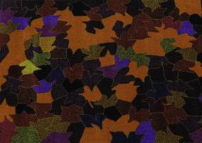 Entrématta - Höstglöd röd/orange - Dörrmatta 85x75 cm