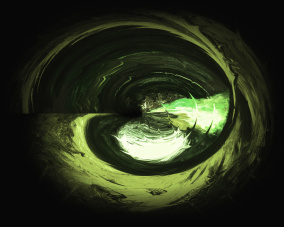 Energy Soul - blek grön - Gicléetryck 38x50 cm, ram 53x73 cm