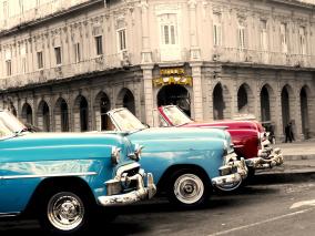 Ljudabsorbent - Havanna - Hotell Plaza - Ljudabsorbent print 90x120x5 cm, svart metallram