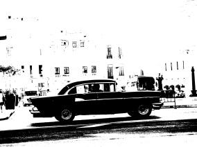 Ljudabsorbent - Havanna - bilglädje - Ljudabsorbent  print 90x120x5 cm, svart metallram
