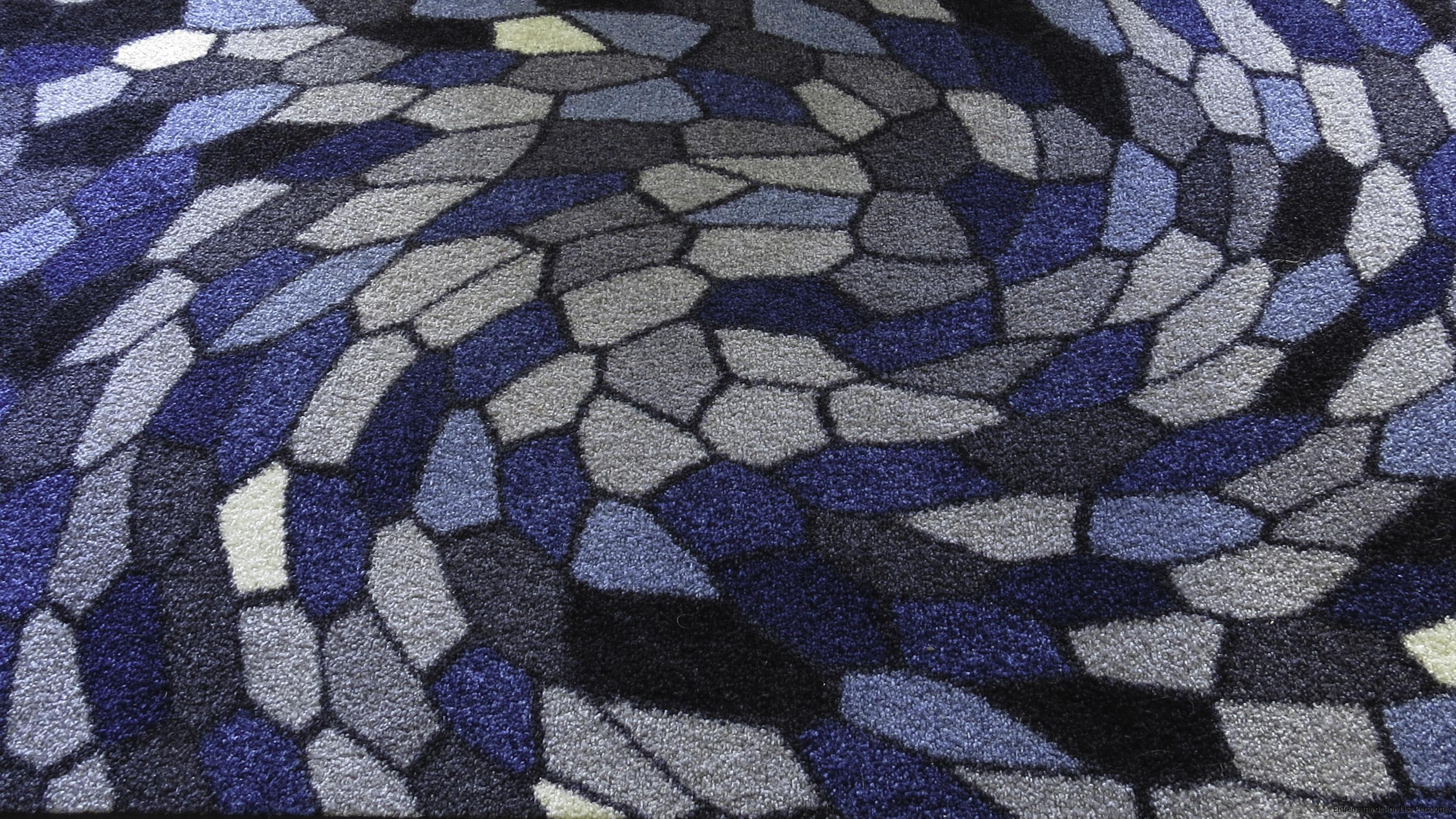 Hallmatta blå grå colorjoy.se