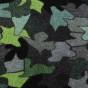 Entrématta - Lovebird - gråskala/grön