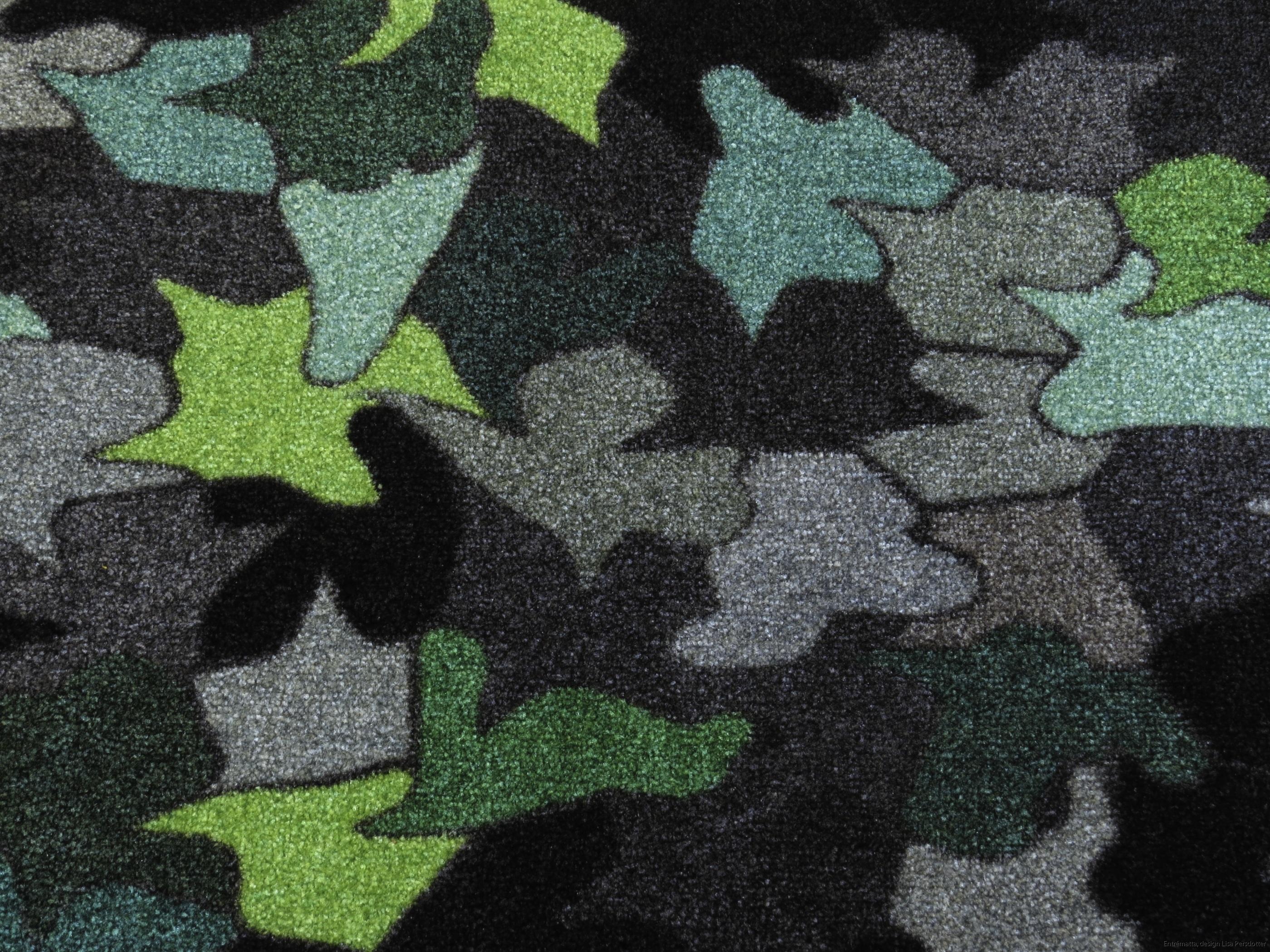 hallmatta grå grön  design Lisa Persdotter colorjoy.se