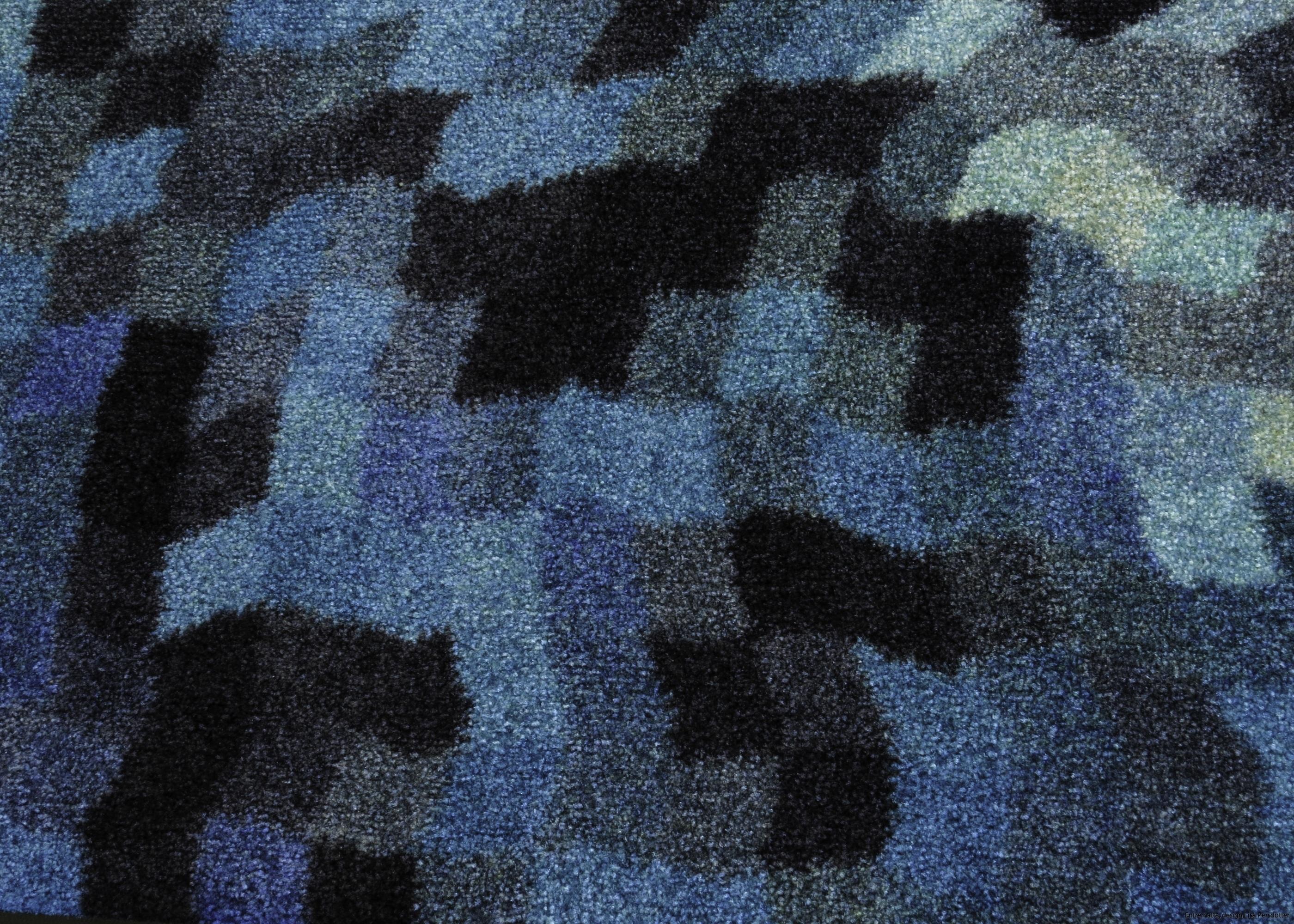 dörrmatta blå  design Lisa Persdotter colorjoy.se