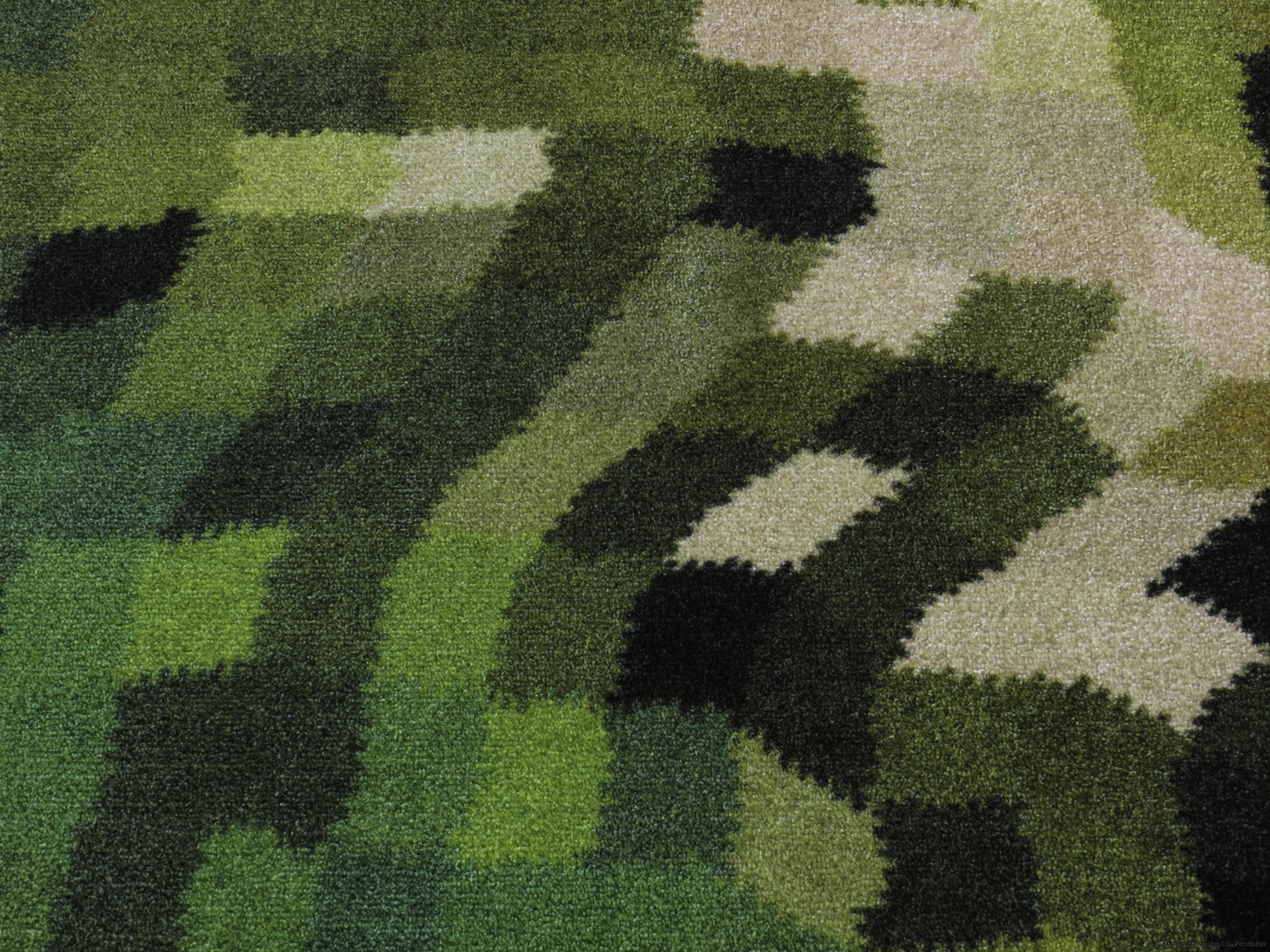 entrematta grön tvättbar 60 grader Lisa Persdotter colorjoy.se