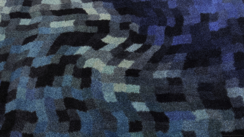 Hallmatta blå mönstrad Lisa Persdotter colorjoy.se