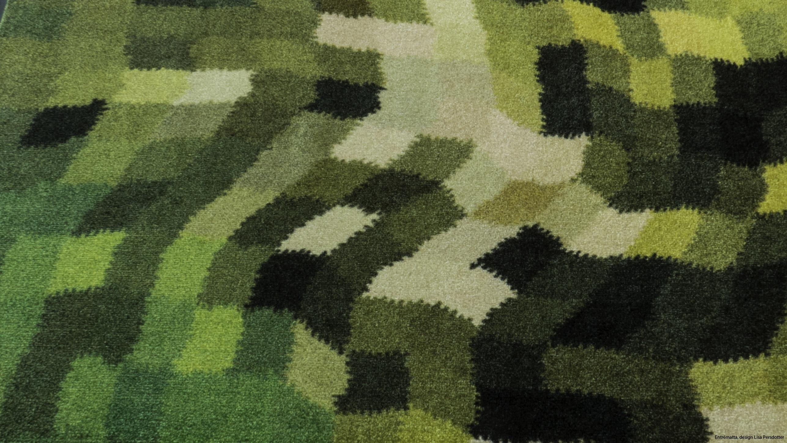 Hallmatta grön mönstrad Lisa Persdotter colorjoy.se