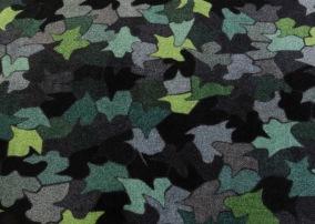 Entrématta - Lovebird - gråskala/grön - Dörrmatta 85x75 cm