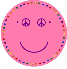 Matta rund - Smile - rosa - Rund matta 1 m diameter