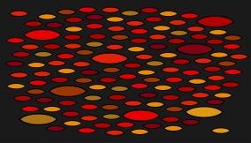 Entrématta - Guppy - röd - Dörrmatta 85x75 cm