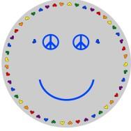 Matta rund - Smile - ljusgrå