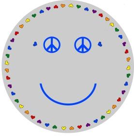 Matta rund - Smile - ljusgrå - Rund matt 1 m diameter