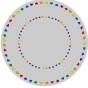 Matta rund - Give love - ljusgrå - Matta rund 2 m diameter