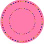 Matta rund - Give love - rosa - Rund matta 2 m diameter