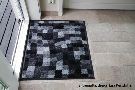 Entrematta, design, grå, tvätt 60 grader