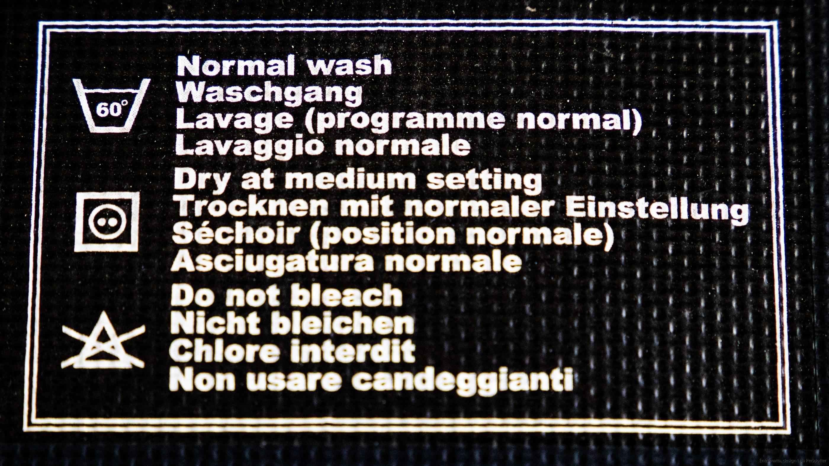 Hallmatta tvätt, design, tvätt 60 grader