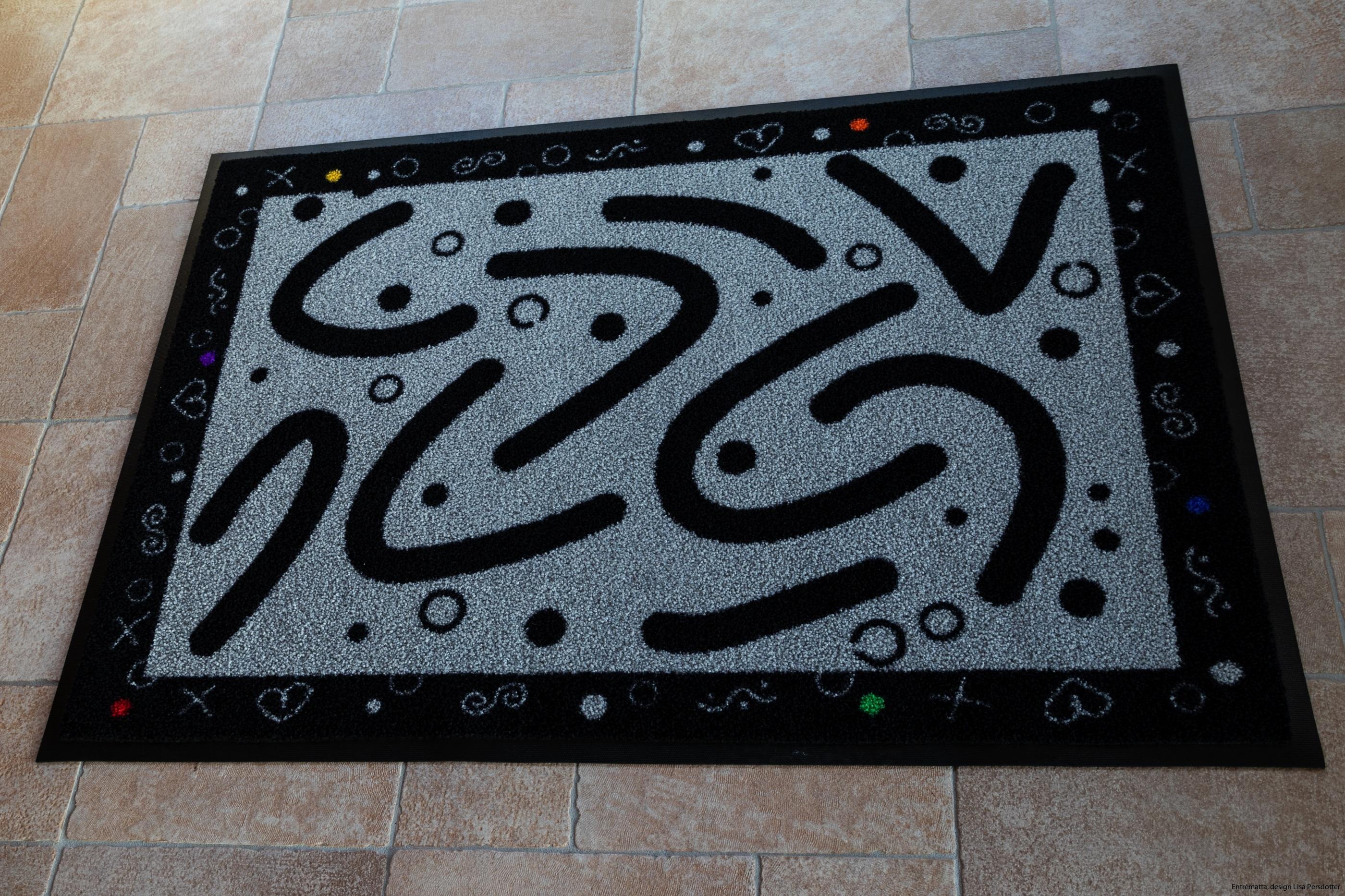 Designad matta, grafiskt mönster