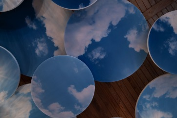 Ljudabsorbenter som runda moln