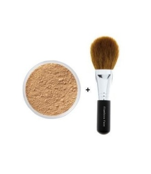 BARE MINERALS FOUNDATION FAIRLY LIGHT 8G + FLAWLESS FACE BRUSH -