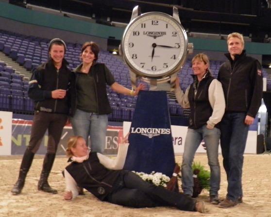 Certifierade Instruktör Petra, Raivo, Jenny, Ann and our rider Adrien Brannelly in Helsinki Horse Show