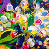 Hello spring!: 50x50 cm, oil on canvas - 4000 SEK + shipping
