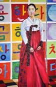 Korean pavillion, SH world expo: oil on canvas, 80x120cm, sold
