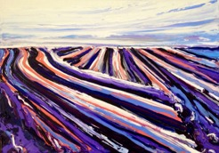 Plowed: 50x70 cm, oil on canvas - SOLD