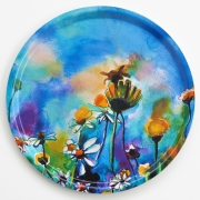 Serving tray Flowers & bee