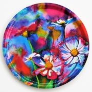 Rainbow flowers tray