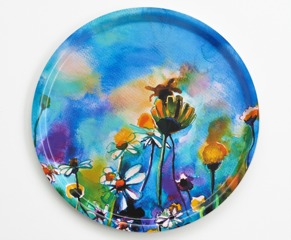 Serving tray Flowers & bee -