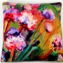 Beach flowers pillow cover