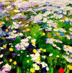 Bearfoot meadow: 50x50 cm, oil on canvas - SOLD