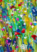 Meadow study 1: Watercolour, A4 - SOLD