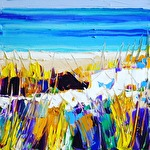 Yellow grass: 30x30 cm, oil on canvas - Price upon request