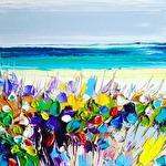 Beach bush: 30x30 cm, oil on canvas - SOLD